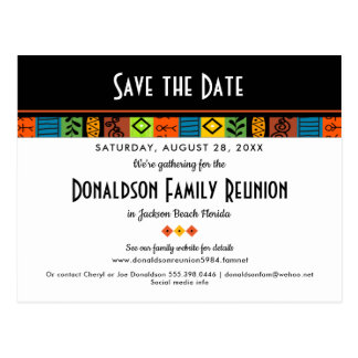 Fun Festive Family Reunion or Party Save the Date Postcard