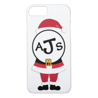 Fun Festive Monogram Santa Christmas iPhone Case