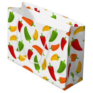 Fun Fiesta Chili peppers fun large gift bag