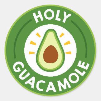 Fun Fiesta word art guacamole party sticker