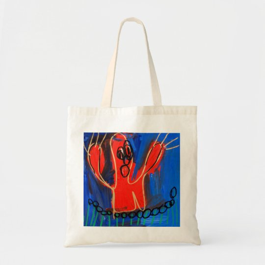 Fun figure by Johnny Tote Bag