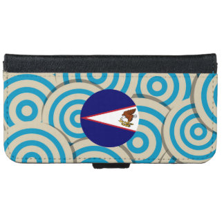 Fun Filled, Round flag of American Samoa iPhone 6 Wallet Case