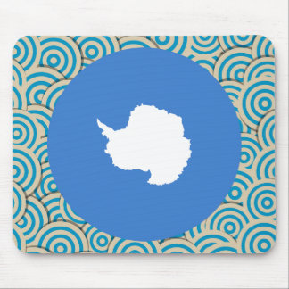 Fun Filled, Round flag of Antarctica Mouse Pad