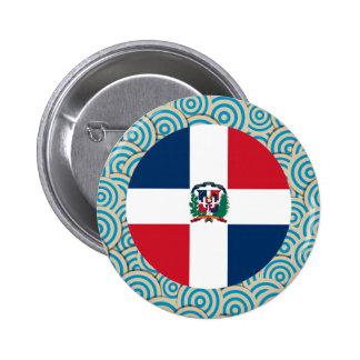 Fun Filled, Round flag of Dominican Republic 6 Cm Round Badge
