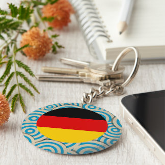 Fun Filled, Round flag of Germany Basic Round Button Key Ring