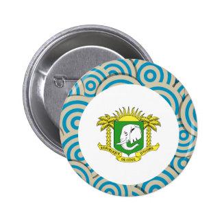 Fun Filled, Round flag of Ivory Coast 6 Cm Round Badge