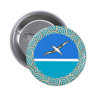 Fun Filled, Round flag of Midway Islands 6 Cm Round Badge
