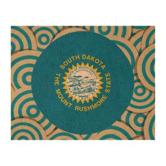 Fun Filled, Round flag of South Dakota Cork Fabric