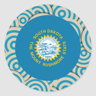 Fun Filled, Round flag of South Dakota Round Sticker