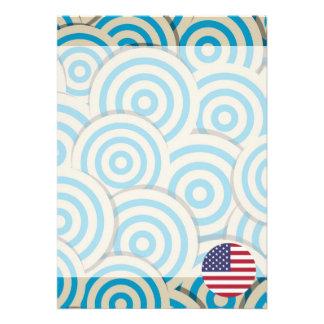 Fun Filled, Round flag of United States 13 Cm X 18 Cm Invitation Card