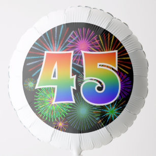 Fun Fireworks Rainbow Pattern 45 Event Balloon