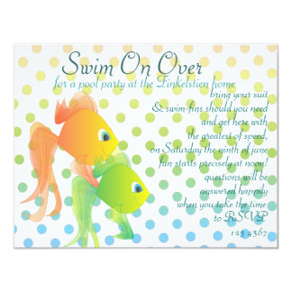 Fun Fishies! 11 Cm X 14 Cm Invitation Card