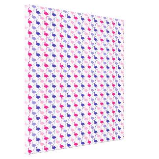 Fun Flamingo Pattern Stretched Canvas Prints
