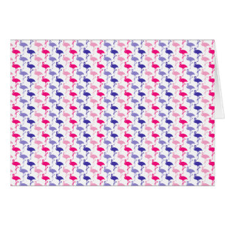 Fun Flamingo Pattern Card