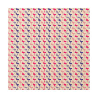 Fun Flamingo Pattern Wood Canvases