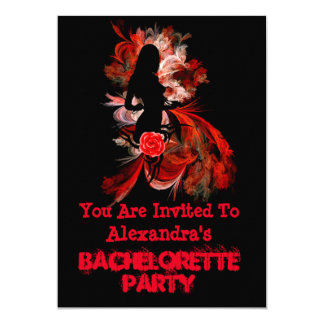 Fun flirty adult personalized bachelorette party 13 cm x 18 cm invitation card