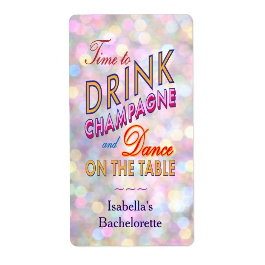 Fun, Flirty & Colourful Wine Label Shipping Label