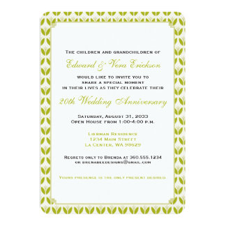 Fun Floral Anniversary Party Card