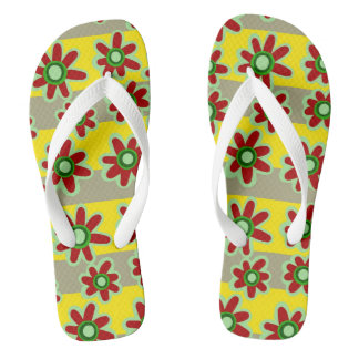 Fun Floral Flip Flops