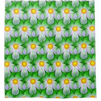 Fun Floral Pattern Shower Curtain