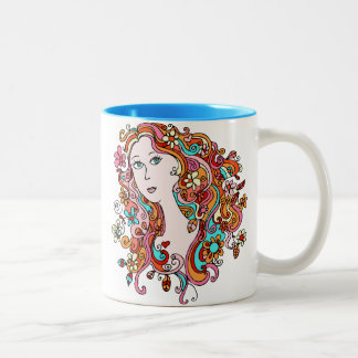 Fun Flower Power Girl Mug