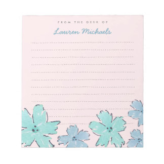 Fun Flowers Personalized Memo Notepad