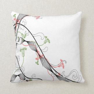 Fun Flowers Throw Pillow