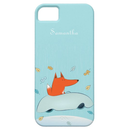 Fun Fox in Car iPhone 5 Case