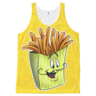 Fun French fry cartoon shirt All-Over Print Tank Top