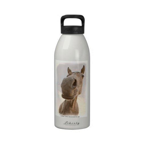 Fun Friendly Horse Aluminum Water Bottle