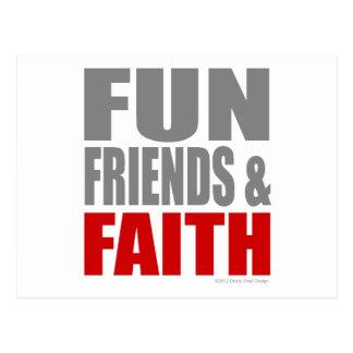 FUN FRIENDS & FAITH POSTCARD