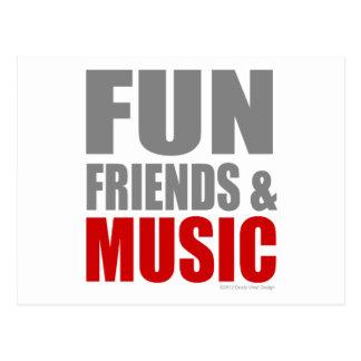 FUN FRIENDS & MUSIC POSTCARD
