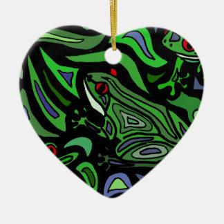 Fun Frog Abstract Art Christmas Ornament