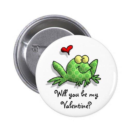 Fun Frog Valentine Pins