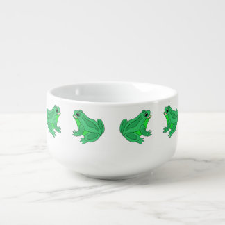 Fun Frogs Soup Bowl With Handle