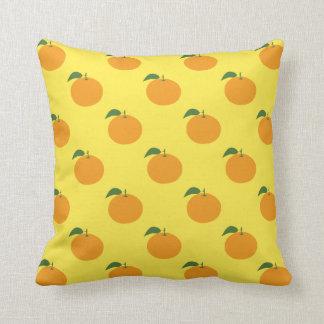 Fun Fruit Oranges Pattern Yellow or Custom Color Cushion