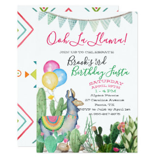 Fun & Funky Llama Party Card