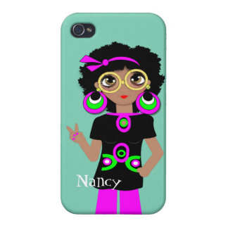 Fun Funky Psychedelic Hippy Chick Case For The iPhone 4