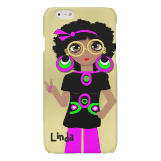 Fun Funky Psychedelic Hippy Chick iPhone 6 Plus Case