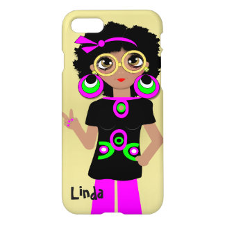 Fun Funky Psychedelic Hippy Chick iPhone 8/7 Case