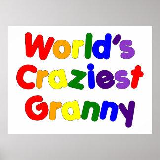 Fun Funny Grandmothers : World's Craziest Granny Poster
