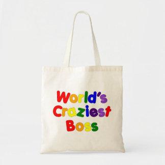 Fun Funny Humorous Bosses : World's Craziest Boss Tote Bags