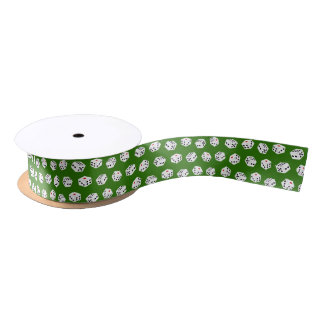 Fun Gambling Casino dice pattern gift ribbon Satin Ribbon