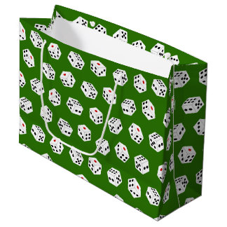 Fun Gambling Casino dice pattern party bag
