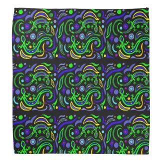 Fun Gecko Lizard Abstract Art Bandana