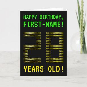 Fun Geeky Nerdy 28 YEARS OLD Birthday Card