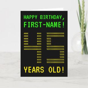 Fun Geeky Nerdy 45 YEARS OLD Birthday Card