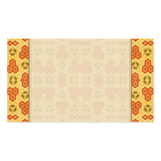 Fun Geometric Orange and Yellow Pack Of Standard Business Cards