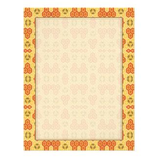Fun Geometric Orange and Yellow Flyer Design