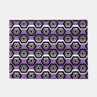 Fun Geometric Pattern With Stripes Doormat